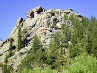 Lower summit from the east