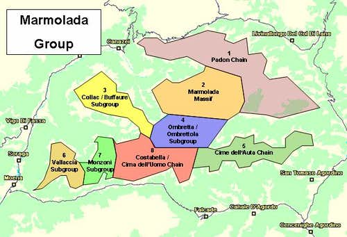 Overview Map of the Marmolada...