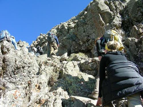 Final Scramble up Ras Dashen