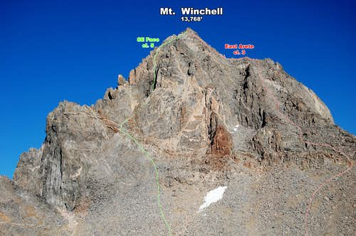 Routes on the SE Side of Mt Winchell