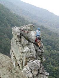 Climbing Humphrey's Head....