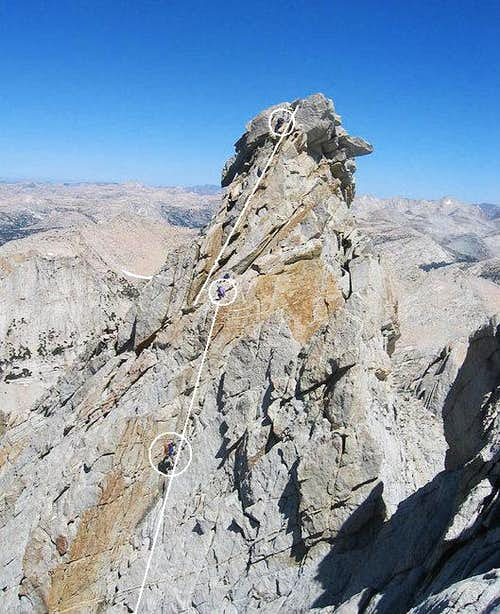 Crux of the North Ridge of...