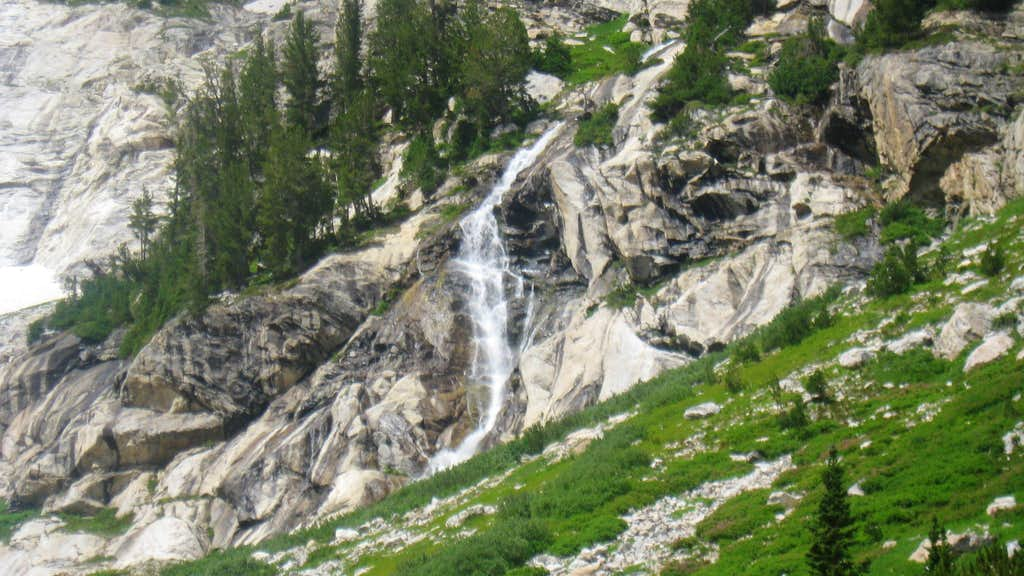 waterfall along the OS route