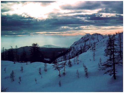 On a ski tour around Visevnik.