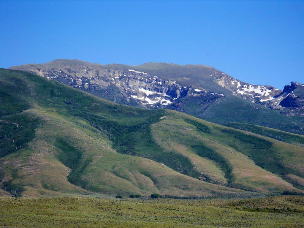 Peak 10745 from west