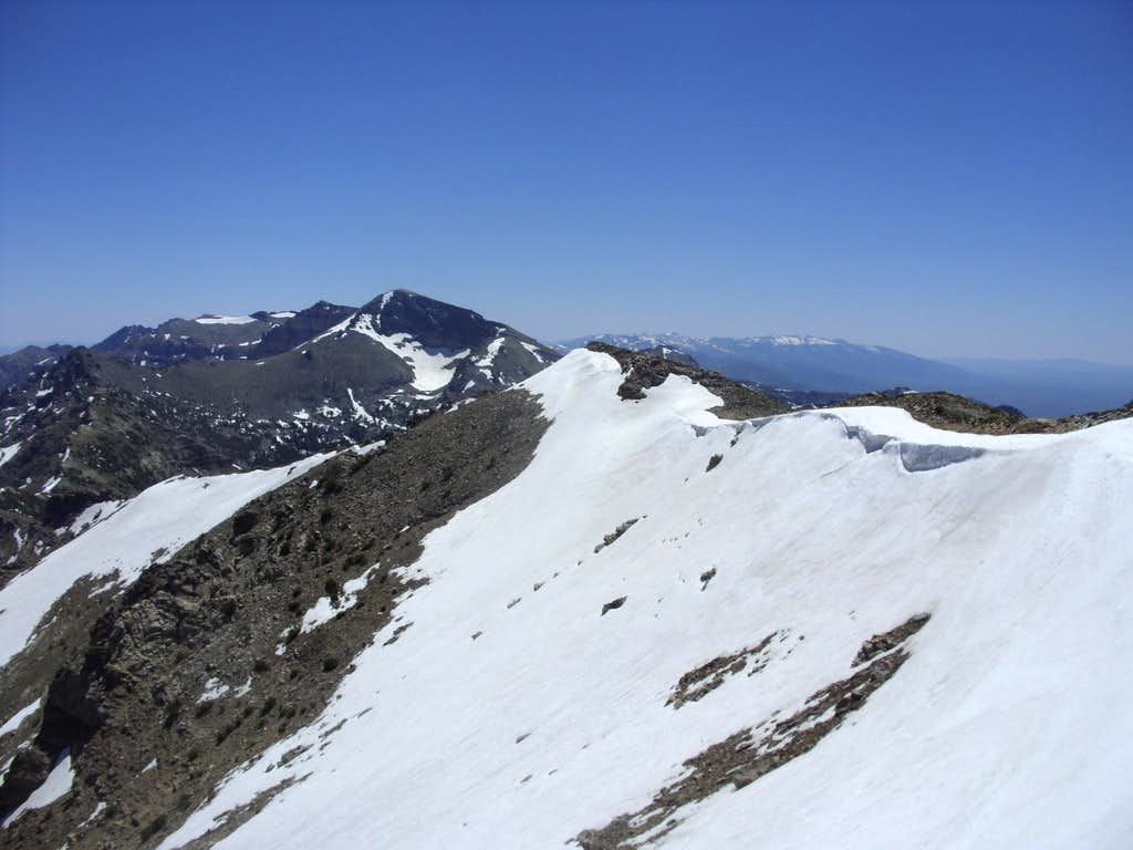 Looking at the true summit Peak 10745
