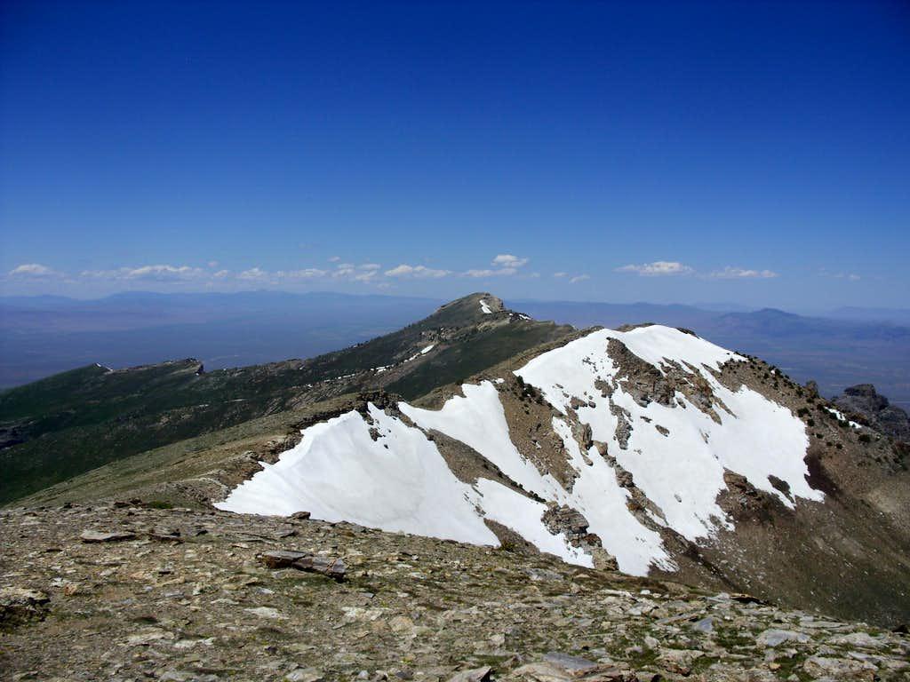 Grey's Peak from the summit of Peak 10745