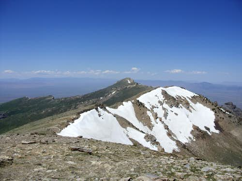 Grey\'s Peak from the summit of Peak 10745