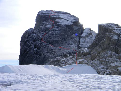 Route on the Summit Block