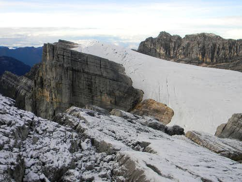 Puncak Jaya and East Carstensz from Sumatri Summit