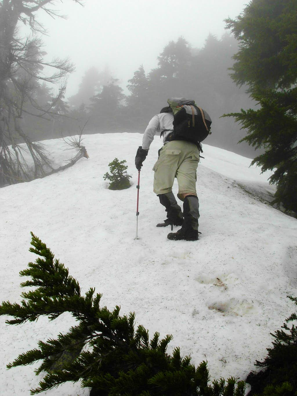 Gimpilator Ascends Upper Snow Gully...