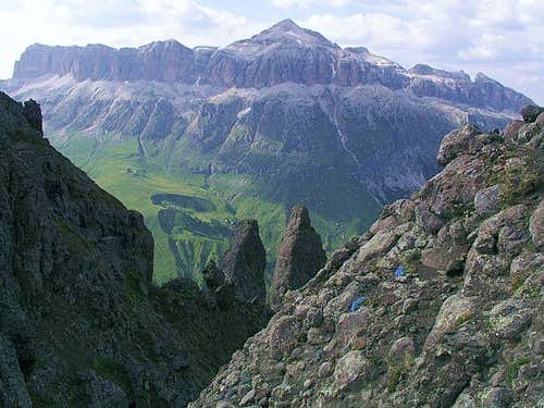 Piz Boe in Sella group from...