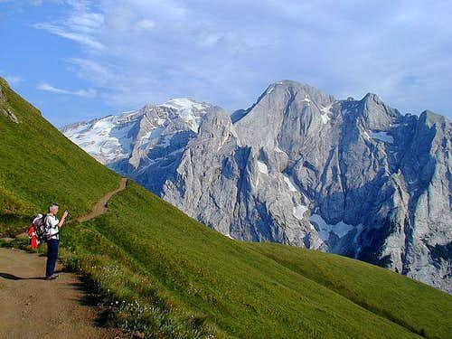 Returning on Passo Pordoi by...