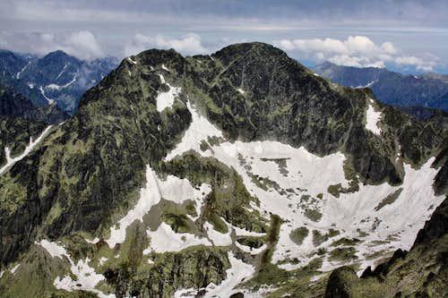 The ridge of  Ľadové štíty