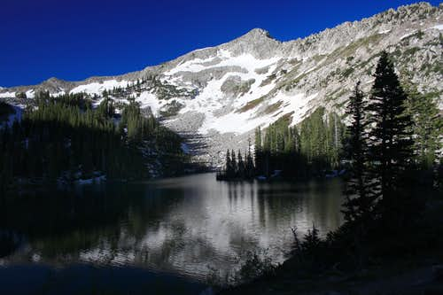 Little Pfeifferhorn from Lower Red Pine Lake