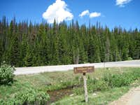 Montgomery Pass trail sign