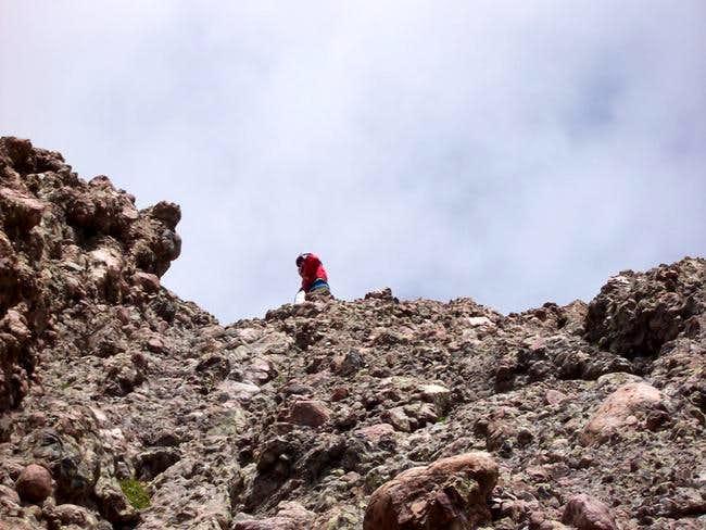 One of the last steep ledges...