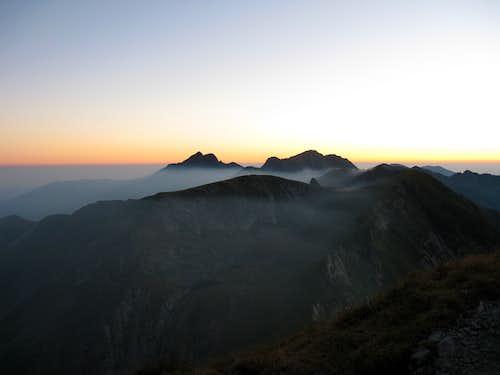 Triple crown of the Făgăraş Mts.