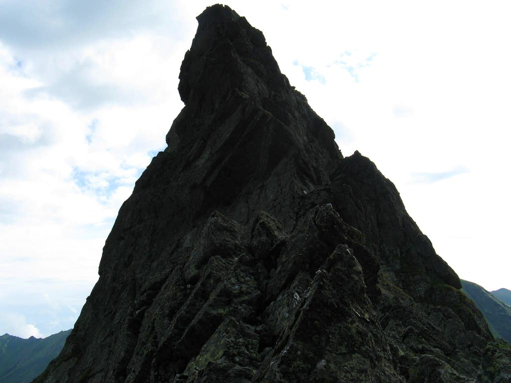 sharp rock near Caltun lake