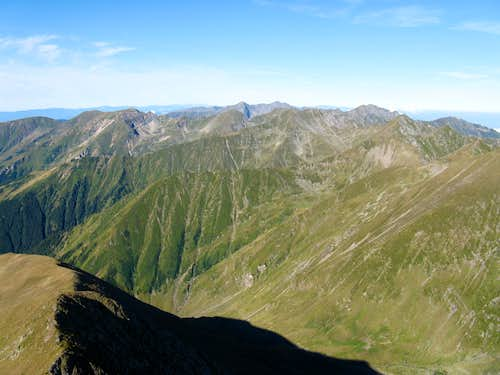 western part of Fagaras Mountains from Moldoveanu
