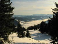 Hutsul Alps on the horizon