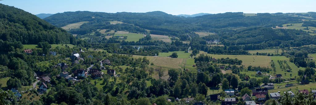 Panorama of the Moravian Beskides from Štramberk