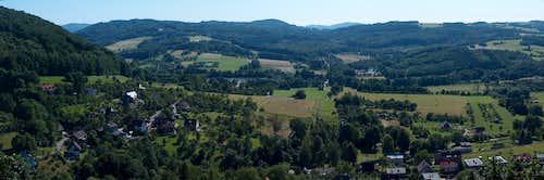 Panorama of the Moravian Beskides from Štramberk