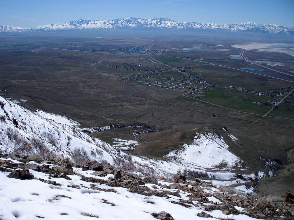 Stansbury Range from Oquirrhs