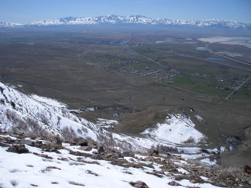 Stansbury Range from Oquirrhs