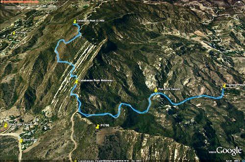 Calabasas Peak Google Earth