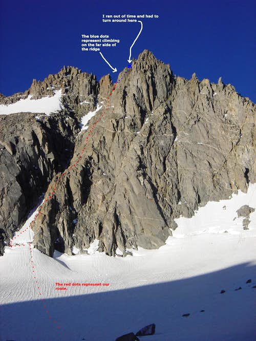 The Route up Starlight Buttress