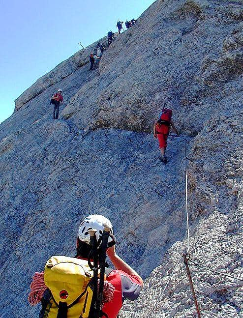 On the West Ridge Ferrata....