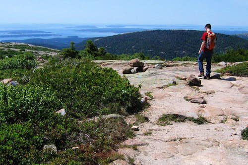 Hiking Down Cadillac Mountain
