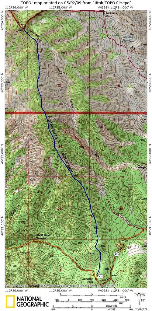 Vickory Peak map