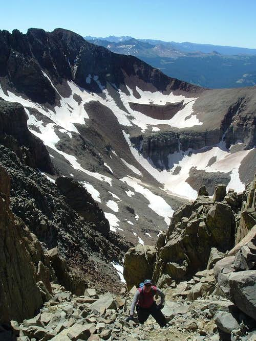 Andrew nearing the summit
