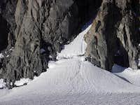 Clyde Couloir Bergschrund 7-4-10