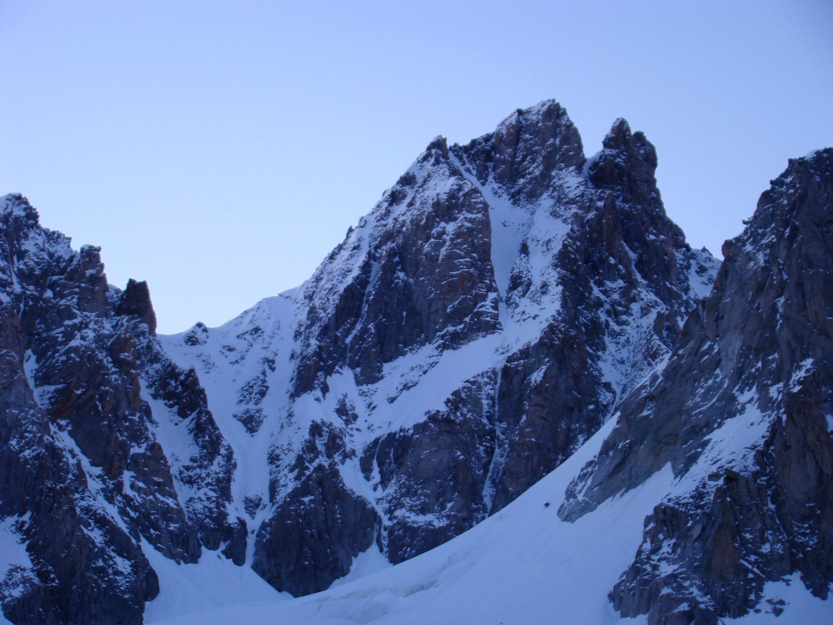 West couloir of Le Tour Noir