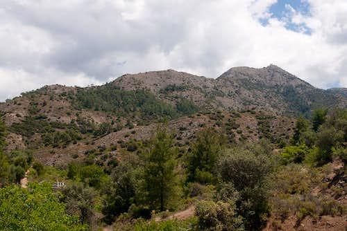 Western North Ridge from Macheiras Monastery