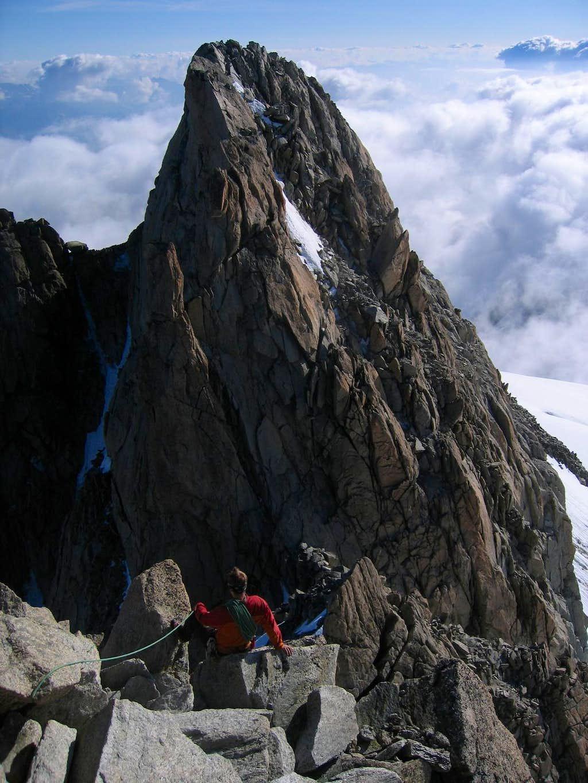 Descending the North Ridge of Aiguille du Tour