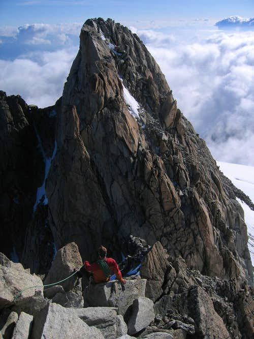 Descending the North Ridge of Aiguille du Tour