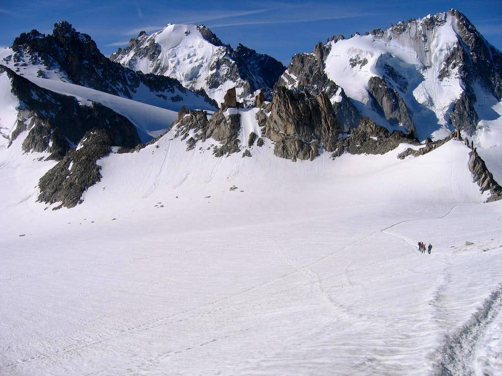 Descending to Col Superieur du Tour from Aiguille du Tour