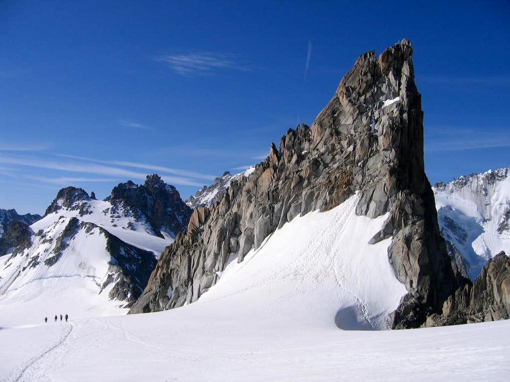 Aiguille Purtscheller on descent of Aiguille du Tour