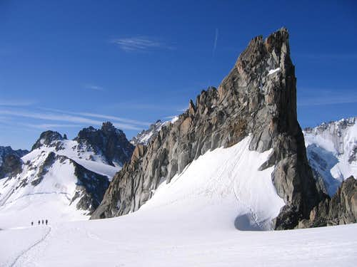Aiguille Purtscheller on descent of Aiguille du Tour