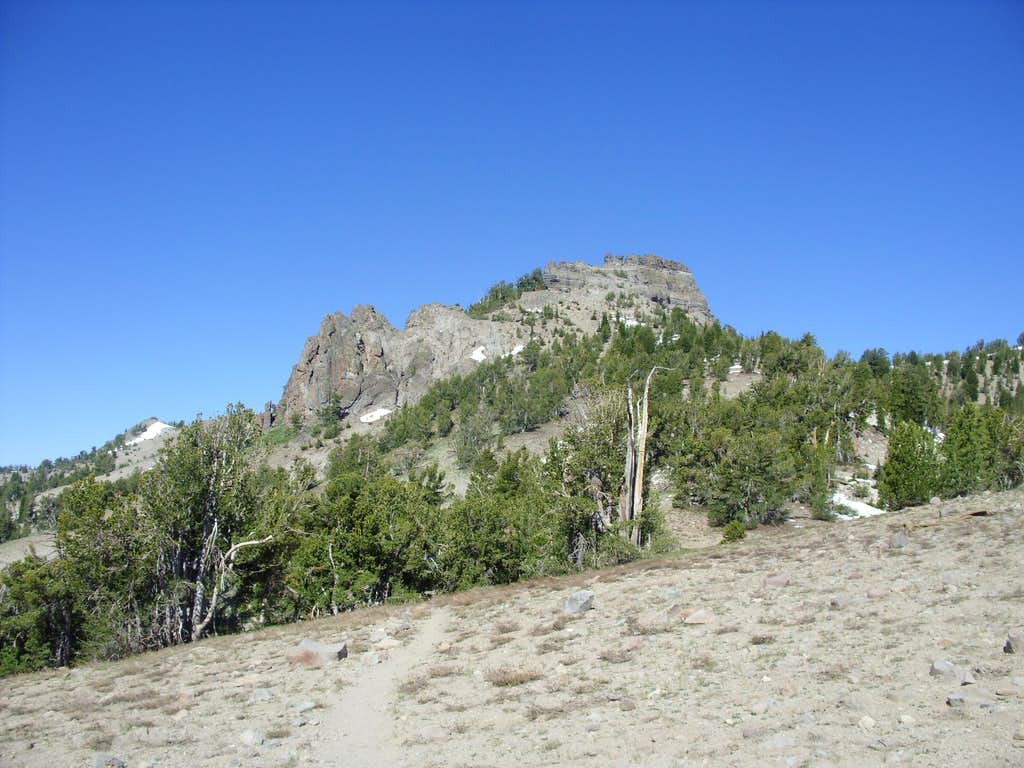 Rocky spires below Peak 9773