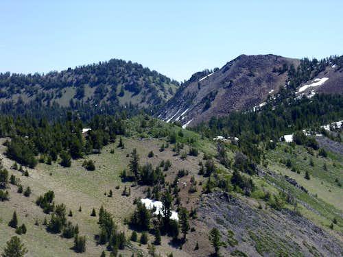 Peak 9773 and Rose Knob Peak