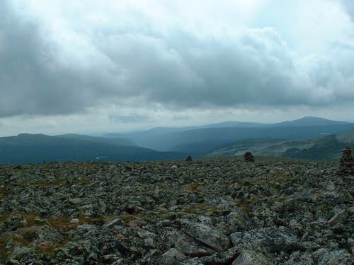 Jacques Cartier summit view