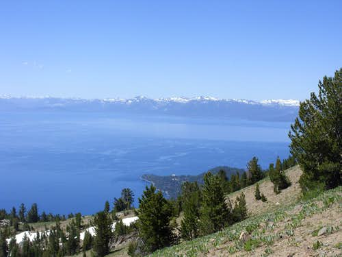 View of Lake Tahoe and the Desolation Wilderness