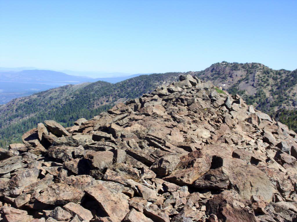 True summit of Rose Knob Peak