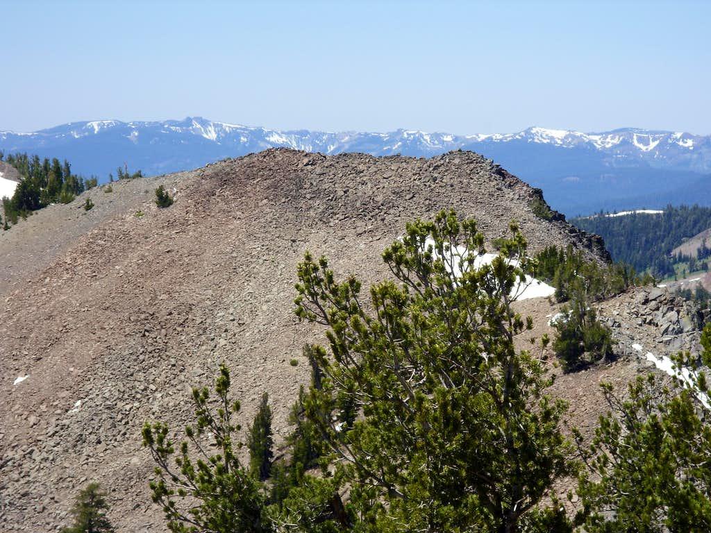 Rose Knob Peak from Peak 9773