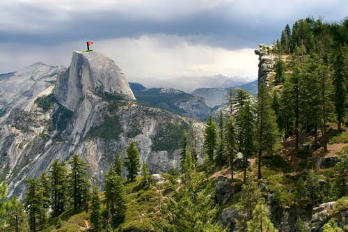 Whimsical Glacier Point and Half Dome